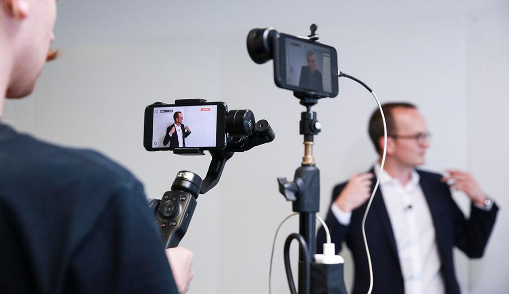 Live Produktion mit Smartphones für Baudirektion des Kantons Zürich