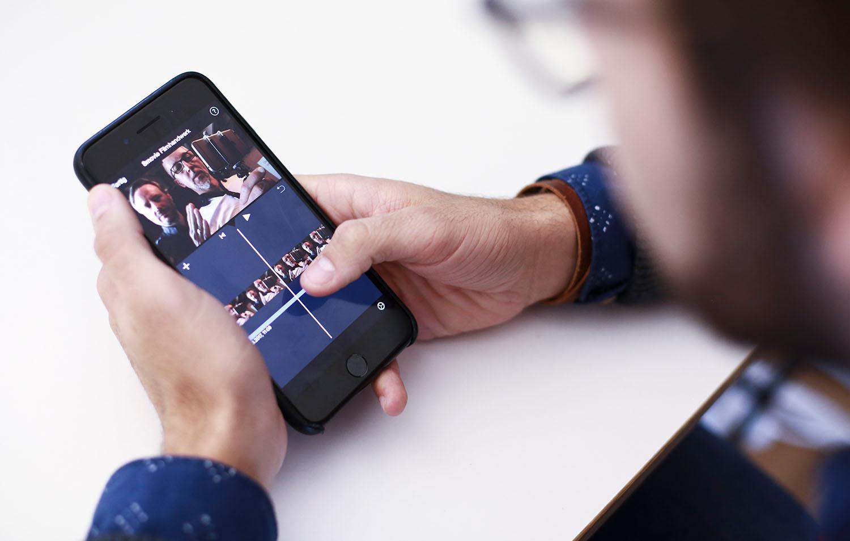 Smovie schult Video schneiden auf dem Smartphone