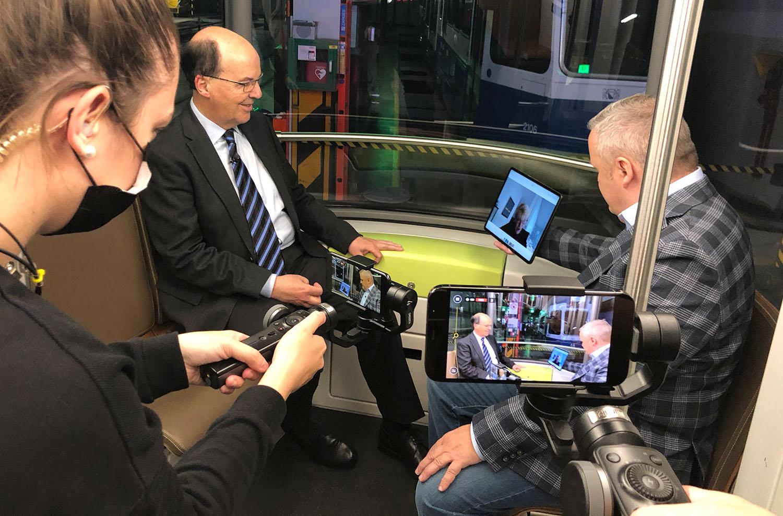 Verabschiedung von VBZ-Direktor Guido Schoch in einer Mitternachtssession im Tramdepot