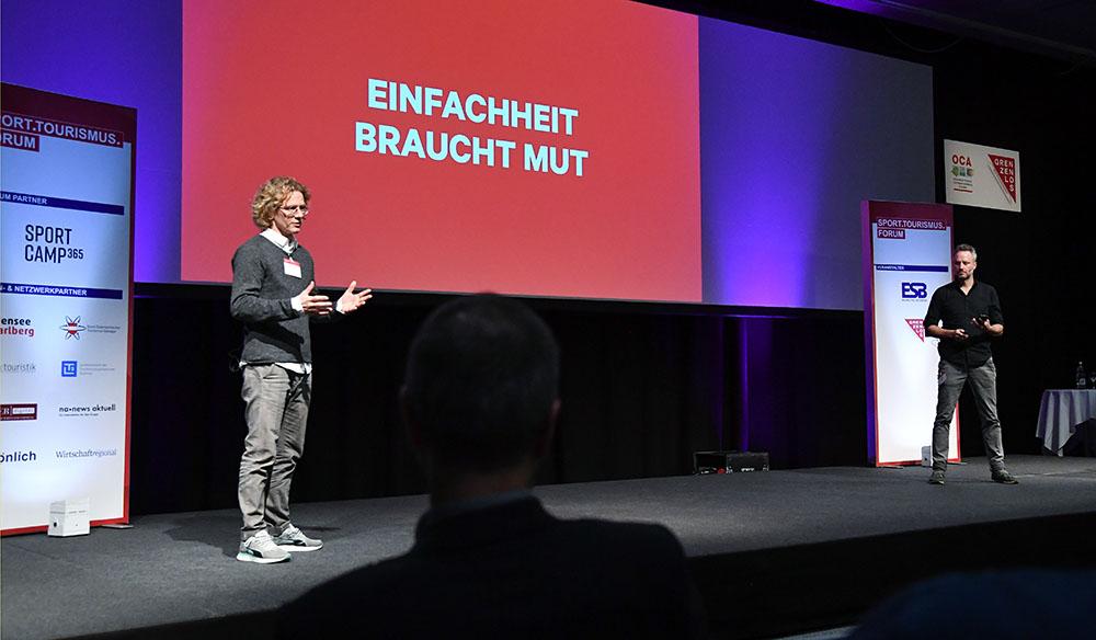 Stefan Klameth und Daniel Wagner am Tourismus Forum 2020